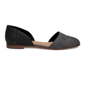Toms Plaid D'Orsay Pointed Toe Flats